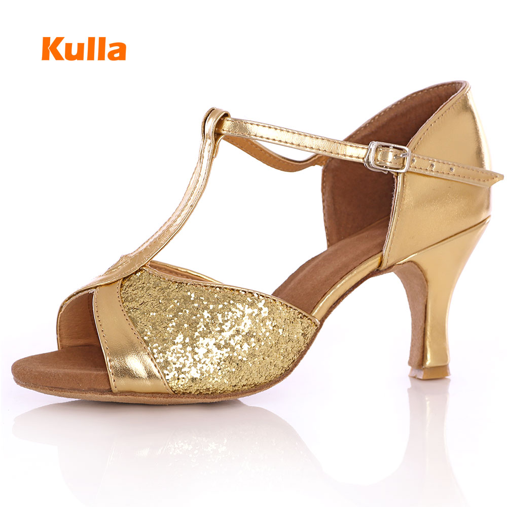 KULLA New Arrival Hot Sale Latin Dance Shoes Tango Salsa Ballroom Dancing Shoes For Women Ladies High-heeled Soft Dance Shoes