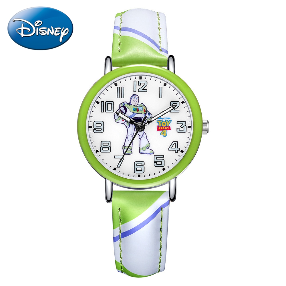 Toy Story Disney Brand PIXAR Woody Buzz Lightyear Children Childhood Friend Quartz Watch PU Band Waterproof Watches Child Gift