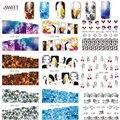 1 Folha Fascinante Flor Da Arte Do Prego Decalques de Transferência de Água Dos Desenhos Animados Adesivos Pontas Das Unhas Manicure Ferramentas de Beleza Completo Wraps STZ273-296