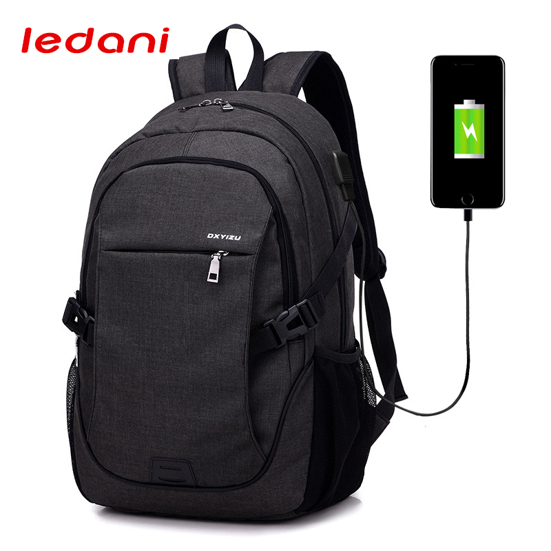 LEDANI Anti thief USB Charging Laptop Backpack For Leisure Canvas Tourism Women Men Backpack School Bag