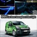 Для Fiat Fiorino/Qubo 2007 ~ 2015 интерьер окружающий свет тюнинг атмосфера волоконно-оптический ленточный свет внутри двери освещения