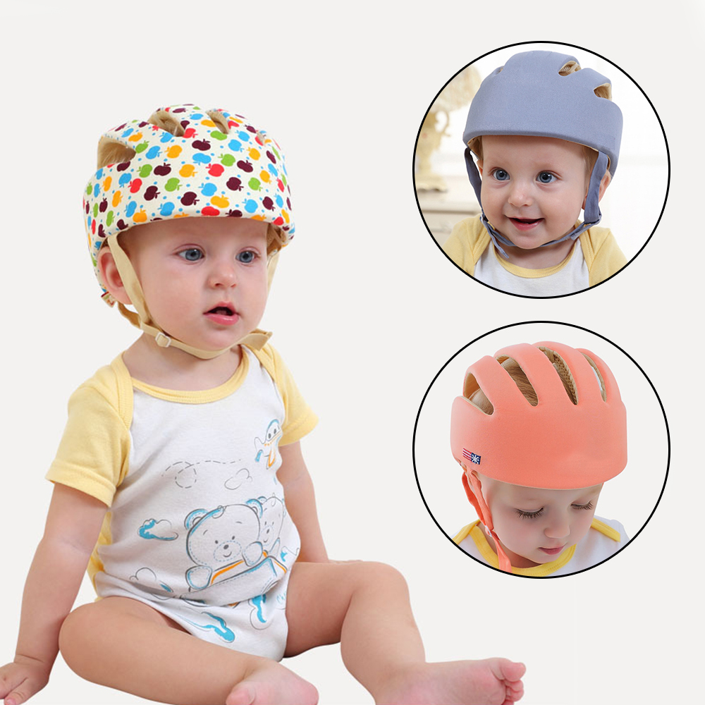 Boys' Baby Clothing Accessories Hat Baby Hat For Girls Baby Boy Cap Kids Caps Protective Helmet Anti-collision Kids Safety Helmet Infant Toddler Adjustable Caps