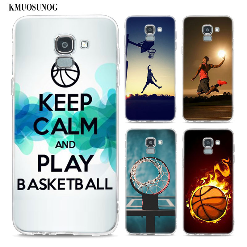 Transparent Soft Silicone Phone Case I Love Basketball For Samsung Galaxy j8 j7 j6 j5 j4 j3 Plus 2018 2017 Prime image