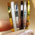 10 unids/lote 2mm 3mm Línea de Banda de Metal Etiqueta Engomada Del Clavo de Seis Colores Rollos Trazado de Líneas de Cinta de Uñas Decoración de Uñas venta al por mayor