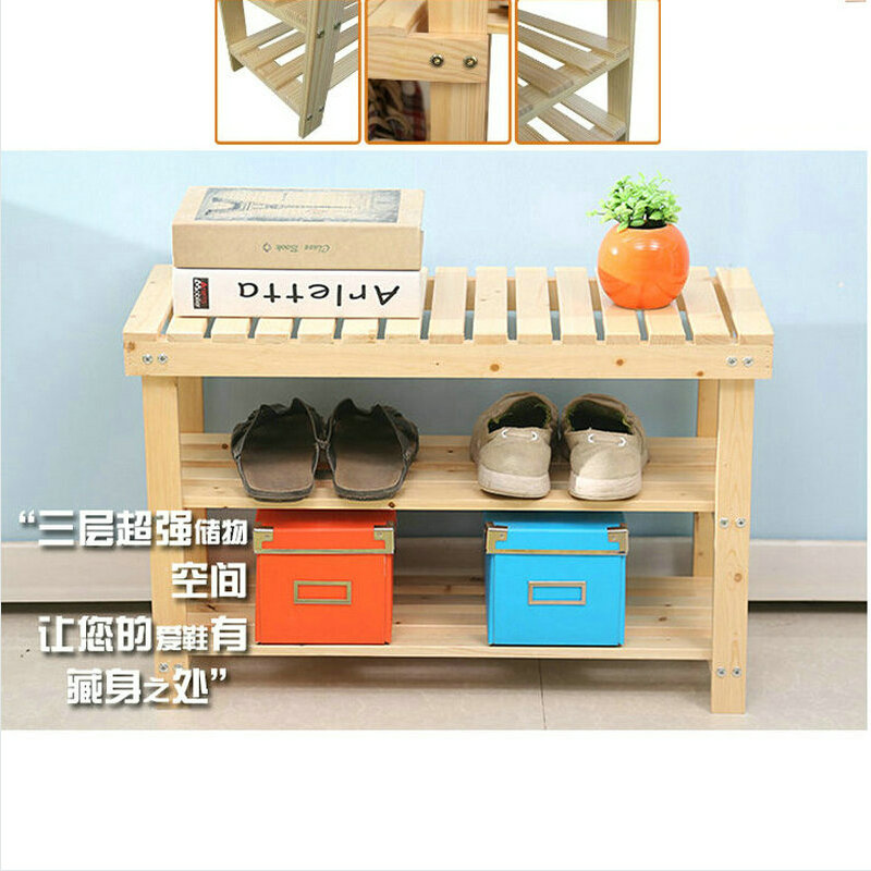 80X29X46CM Solid Pine Wood Shoe Rack Shoe Shelf Storage Scoop Chair Of  Nature Color In Shoe Cabinets From Furniture On Aliexpress.com   Alibaba  Group