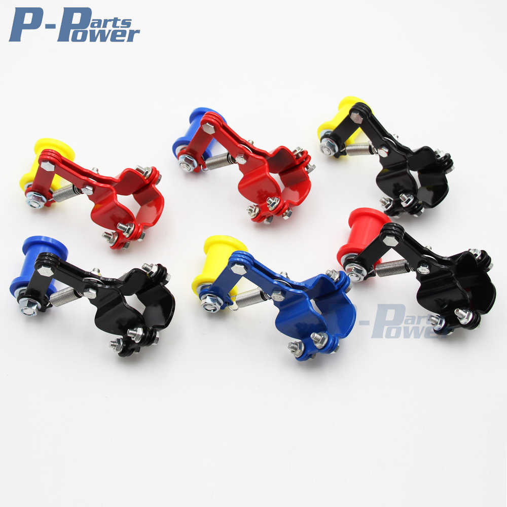 Universal Motorcycle Adjustable Chain Tensioner Guide Assembly ATV Mini Bike Dirt Pro Trail Bike Go Kart Quad NEW