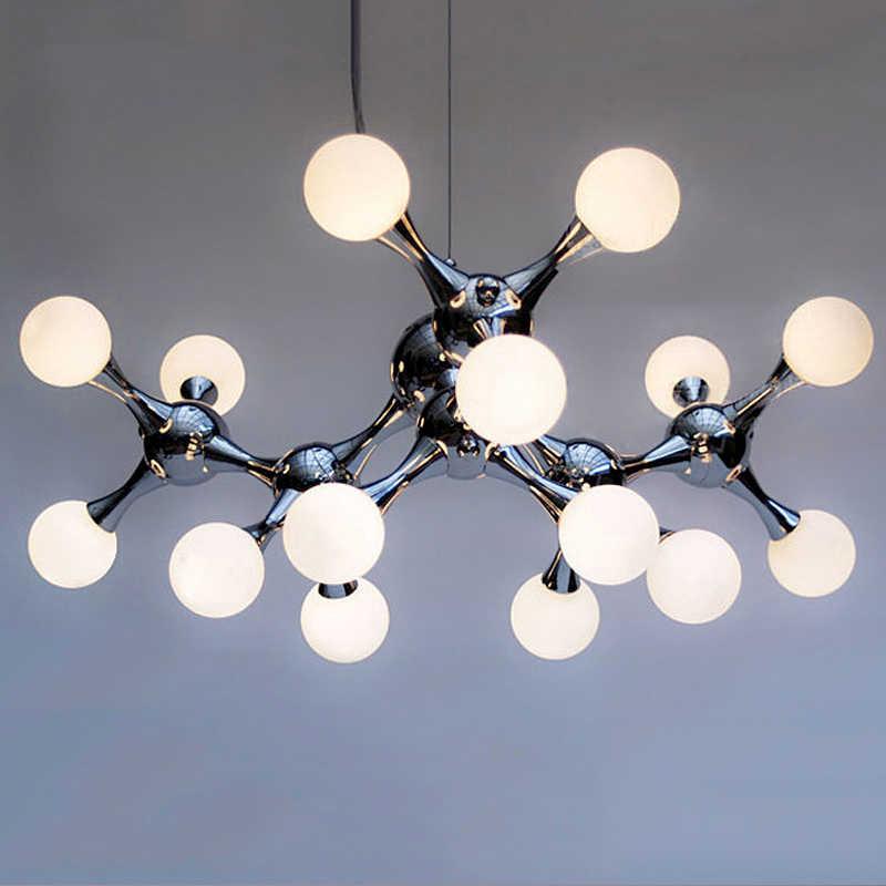 Пост современный стекло круглая люстра гостиная подвесные светильники Nordic светодио дный LED Подвеска светильники спальня подвесные
