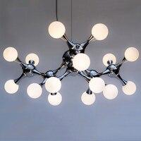 Nordic minimalist modern art DNA molecule restaurant pendant lamps living room chandelier creative bar chandeliers