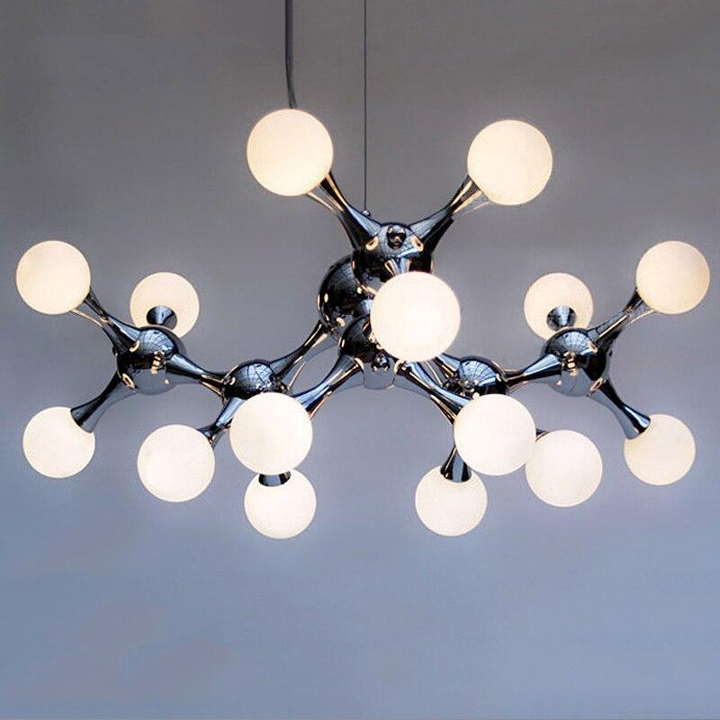 Post-moderne boule de Verre lustre salon suspendus lumières Nordiques luminaires LED suspension luminaires chambre suspendu lampes