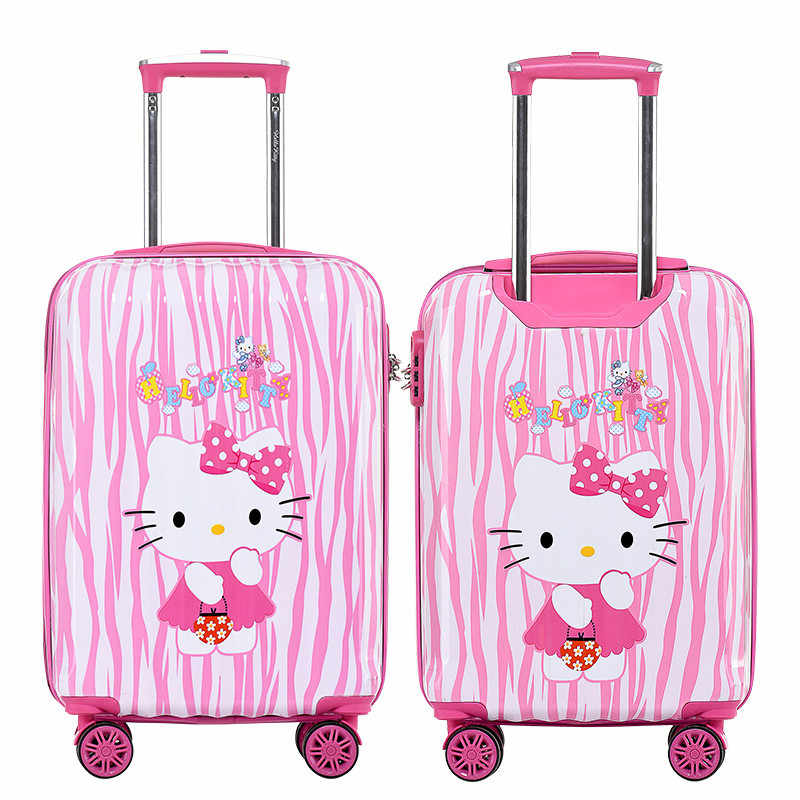 917471679b7d Girls Hello Kitty Trolley Case Children s Cartoon Travel Suitcase 20