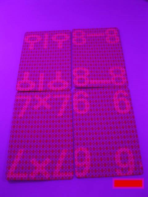 जादू पोकर घर-एएए 9912 (लाल / नीला) सफेद प्रकाश पोकर परिप्रेक्ष्य पोकर, 87x57 मिमी, बिक्री परिप्रेक्ष्य चश्मा