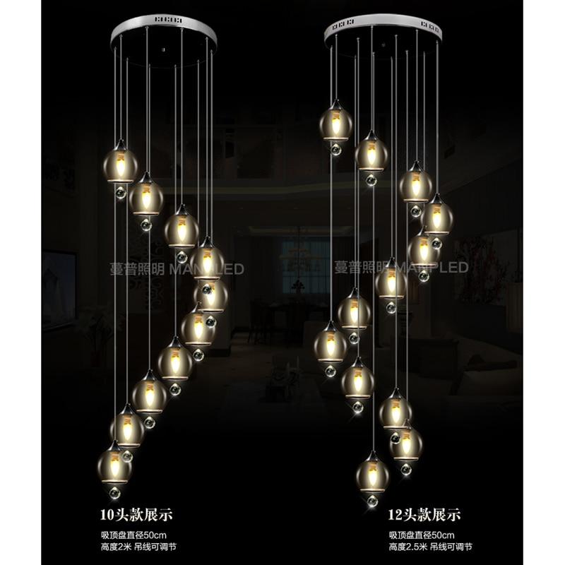 Здесь продается  NEW Stairs lights Original modern double staircase simple style pendant light crystal length creative personality FG46  Свет и освещение