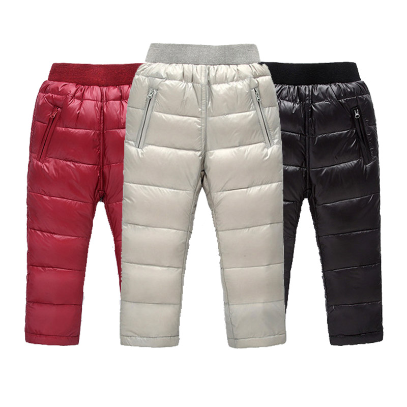 все цены на Winter Children's Pants Kids Down Pants For Baby Boys And Girls Casual Winter Pant Children Warm Trousers for 2-7 Years Kids