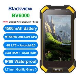 "Image 2 - Original Blackview BV6000 4G LTE Octa Core IP68 Waterproof Smartphone 4.7"" 3GB+32GB NFC 4500mAh Android 6.0 Mobile Phone"
