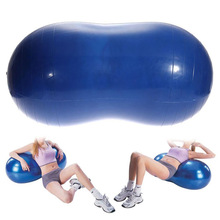 Anti-Burst Yoga Ball Peanut Shape Fitness Exercise Health Sports Gym Multicolor Colorful 68x35cm Durable