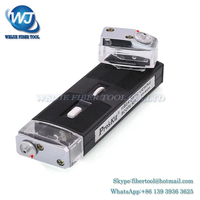 Pro'sKit 8PK-MA009 Fibra Óptica Alcance de Visión Kit de Luz Lupa lupa Microscopio 200X Ampliación Ajustable