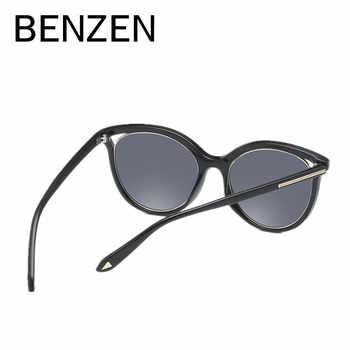 เบนซ์แว่นตากันแดด Cat Eye แว่นตากันแดด Vintage หญิงดวงอาทิตย์แว่นตา Polarized แว่นตา Shade สีดำกับกรณี 6562
