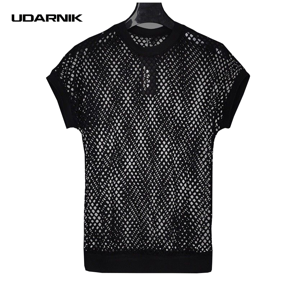 Men/'s Stylish Casual Shirt Loose Fishnet T-Shirt Long Sleeve Formal Summer Tops