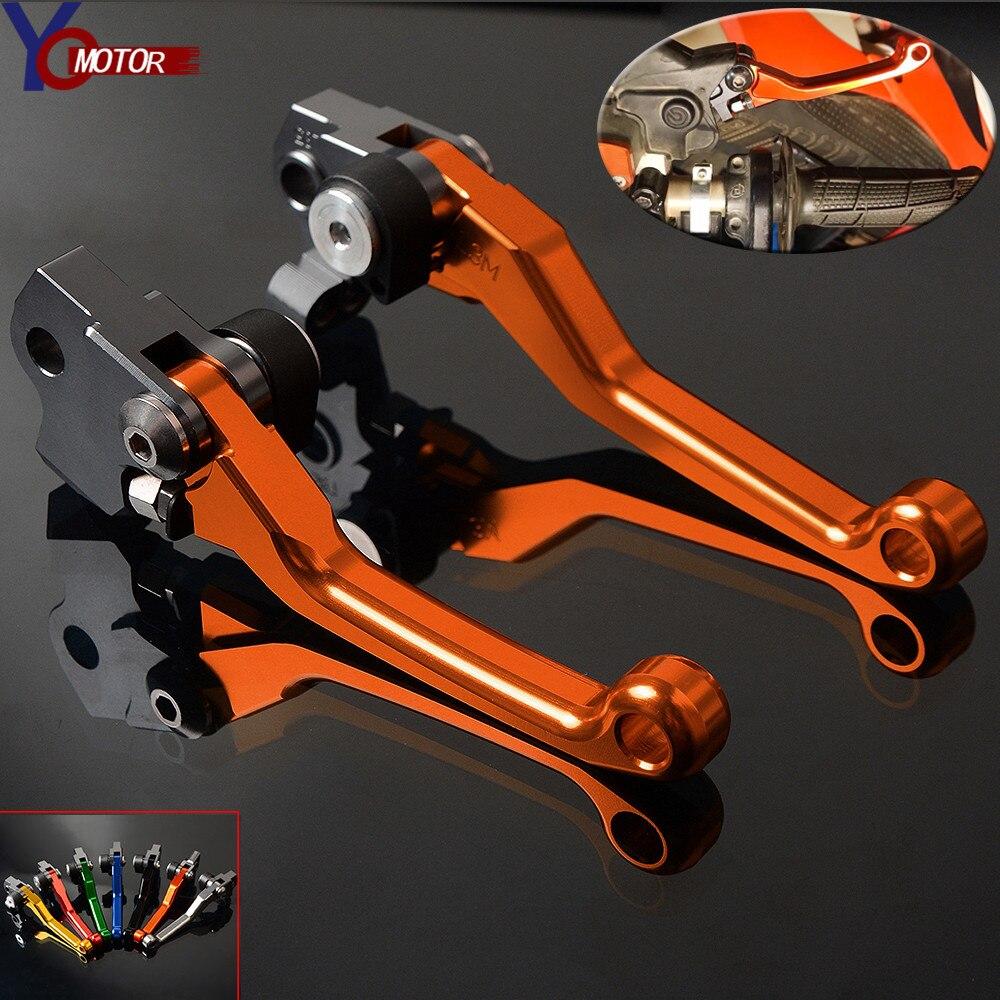 2014-2015 CNC Dirt Bike Pivot Brake Clutch Levers For KTM 450EXC//R SIX DAYS