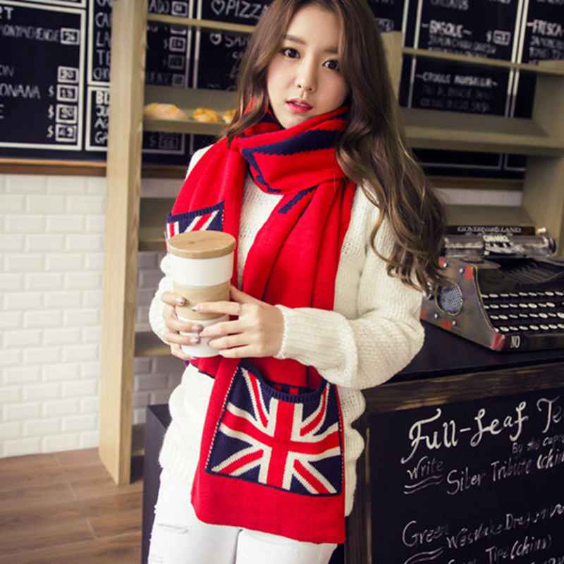 Winter England Style font b Tartan b font Scarf Femme Women Casual Cashmere Scarf Girls Echarpe