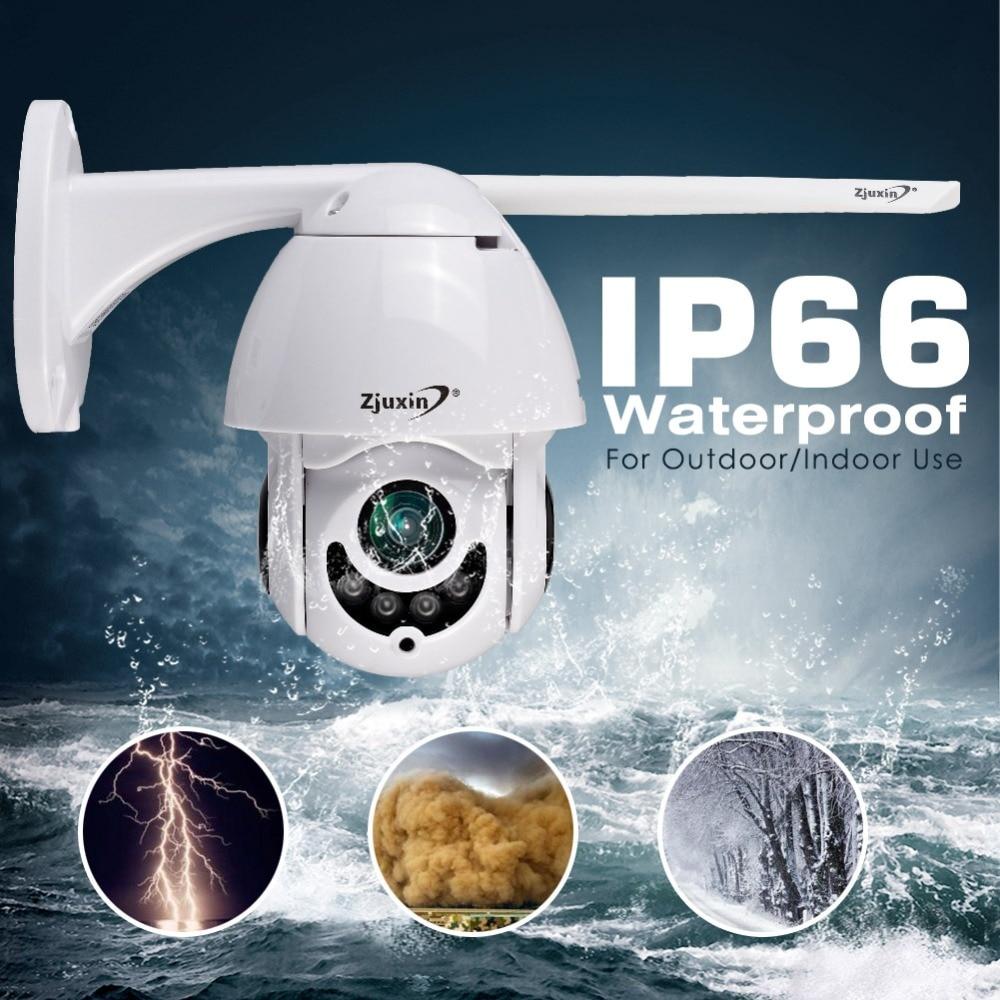 Zjuxin WIFI Camera Outdoor PTZ IP Camera 1080p Mini Speed Dome CCTV 2MP IR Onvif waterproof Home Security  ipCam Camara exterior