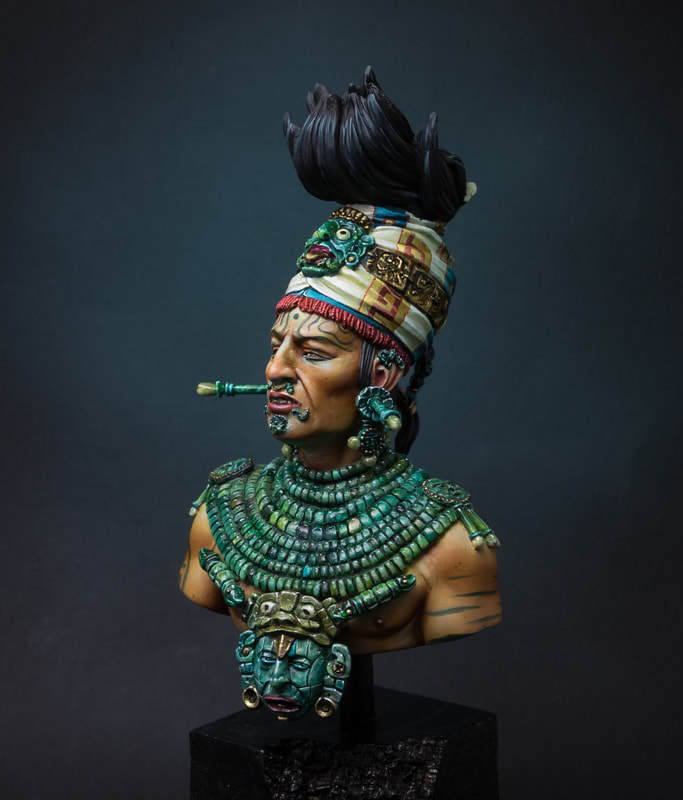 Unassambled   1/10  Ancient Chieftain Bust Man In Winter   Historical  Resin Kit Miniature Model Unpainted