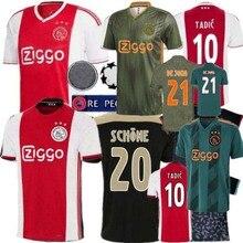 d42572fa64 NOVO 2019 2020 campeão Holandês Ajax jérsei de futebol TADIC DE LIGT ZIYECH  SCHONA 19 20 Camisa ajax jersey Adulto