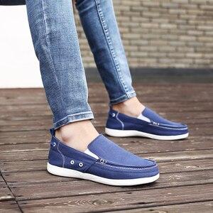 Image 4 - UPUPER zapatos de lona hombres, zapatos casuales transpirables ultraligeros para hombres, mocasines cómodos de Primavera Verano zapatos planos de conducción perezosos para hombres