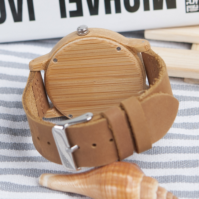 BOBO BIRD relogio masculino Antique Bamboo Watches Men and Women With Leather Strap Wood Wristwatch Top Brand Drop Shipping 4