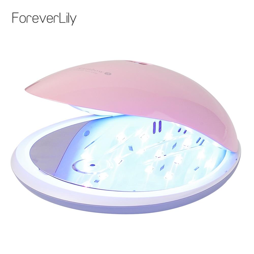 Foreverlily Fashion Rainbow5 UV LED Nail Dryer LED Nail Lamp 48W Led Light Dryer UV Lamp Manicure Polish Machine Curing Nail Gel