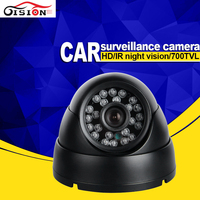CCD Car Camera HD 700TVL IndoorVehicle Camera 1/3 Sony Auto White Balance Night Vsion IR Metal Dom Camera For Car/Taxi/Bus