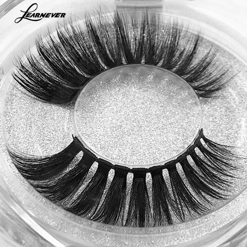 LEARNEVER False Eyelashes Synthetic Hair Natural Length False Eyelashes European Style Eyelashes Makeup Accessories MZM4100
