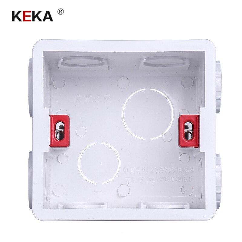 Caixa interna ajustável 86mm * 83mm * 50mm da gaveta da caixa de montagem de keka para 86 tipo interruptor do toque de wifi e caixa traseira da fiação do soquete de alimentação de usb