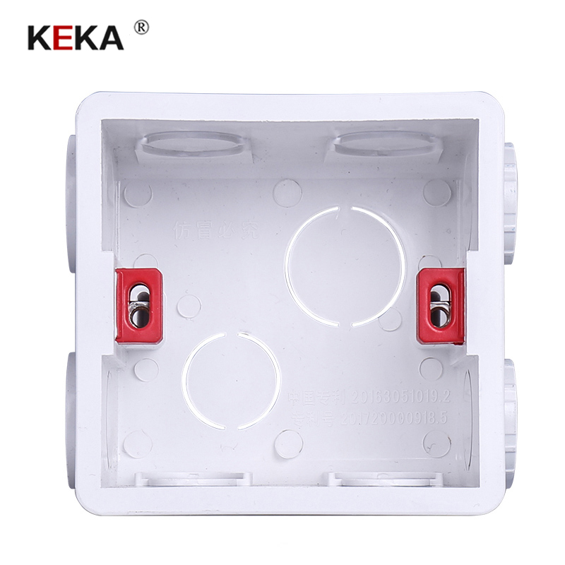 KEKA Adjustable Mounting Box Internal Cassette 86mm*83mm*50mm For 86 Type Wifi Touch Switch And Usb Power Socket Wiring Back Box
