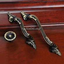 10PCS Top Designed European Solid Brass Kitchen Cabinet Door Handles Cupboard Wardrobe Drawer Wine Pulls Handles&Knobs