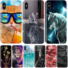 Phone Case For iPhone 5S 5 S SE Soft Silicone TPU Ultra Thin Cute Cat Painted Back Cover For iPhone X 8 7 6 6S 6 S Plus Case