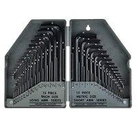 Allen Wrench Hex Key Set 30pcs SAE Metric Combination Repair Kit