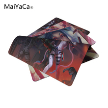 MaiYaCa Jinx Classic Skin Mouse Pad Size 18*22cm and 25*29cm LOL League of legends Mouse Mats