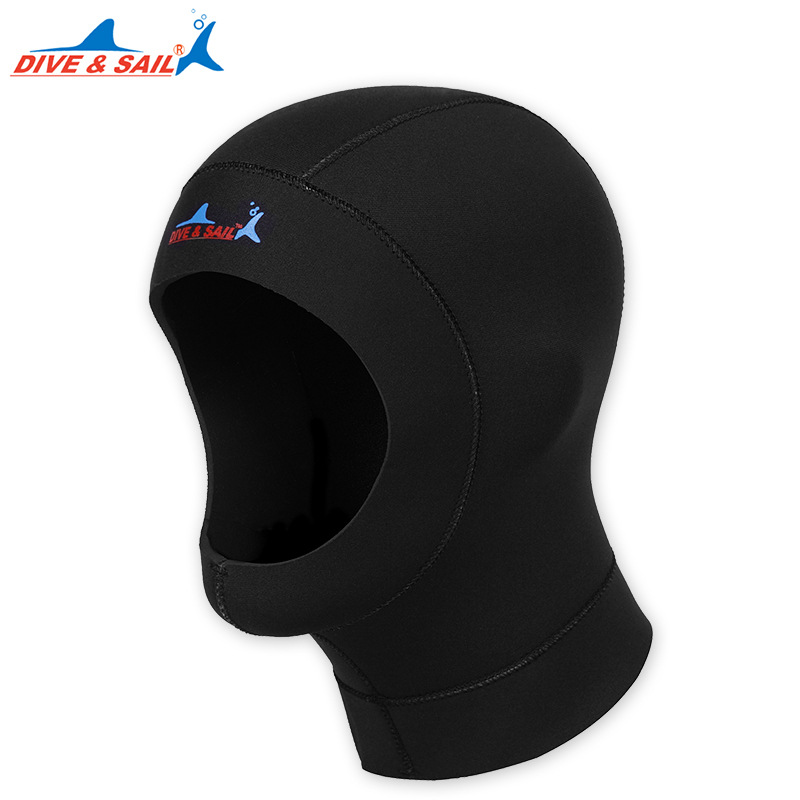 DIVE&SAIL 3mm Neoprene Swimming Diving Caps Hat Winter Warm Hood Jellyfish Sunscreen Protect Scuba Snorkeling Wetsuit Equipment
