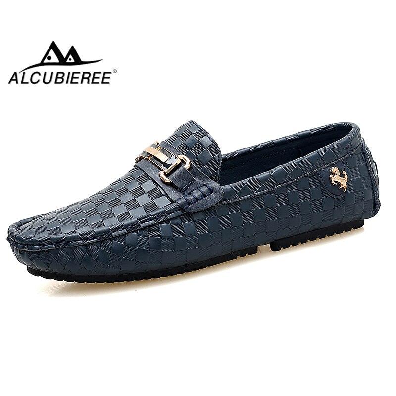 ALCUBIEREE тисненням шкіряні мокасини для - Чоловіче взуття
