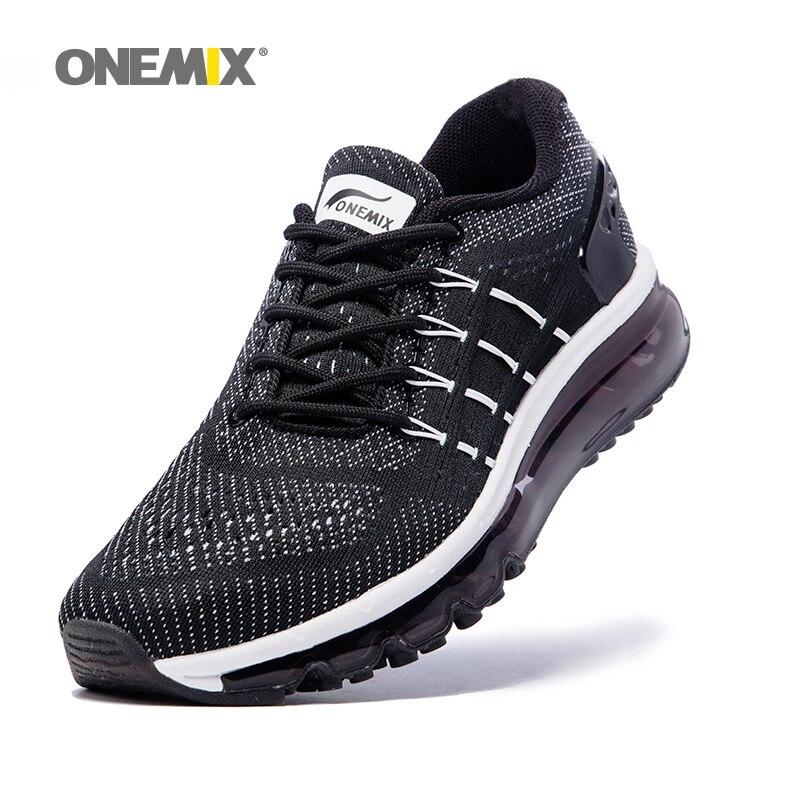 все цены на ONEMIX Air Women Running Shoes for Men Mesh Unique Shoe Tongue Athletic Trainers Black Breathable Sports Shoe Cushion Sneakers