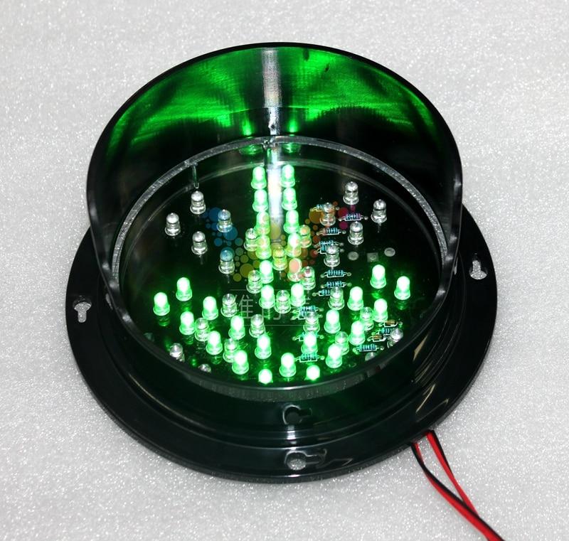 WDM 125 mm 12 V promet Crveni križ Zelena strelica Sigurnost pranja automobila Stop Go Light