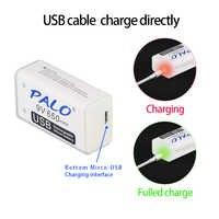 PALO 6F22 lithium-akku 650mAh li-ion 9 v für Multimeter Mikrofon Spielzeug Fernbedienung KTV verwendung