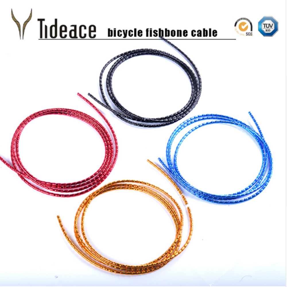 цена на 2017 NEW Road/MTB Bike Shift Brake cable/housing UltraLight brake derailleur Tubing fishbone Aluminum Housing Bicycle Cables Set