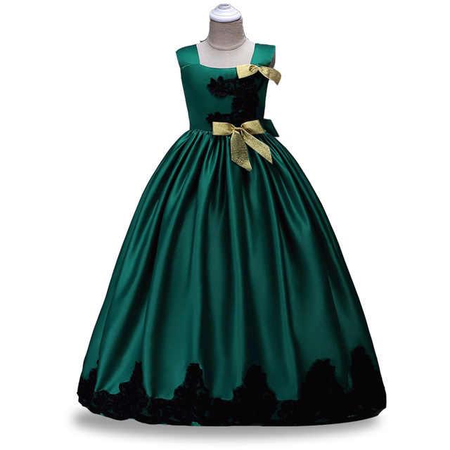 חורף בנות שמלת מסיבת חתונה ארוכה שמלת ילדי בגדי נסיכת ילדים שמלות בנות תלבושות בגדי 4 10 12 שנים
