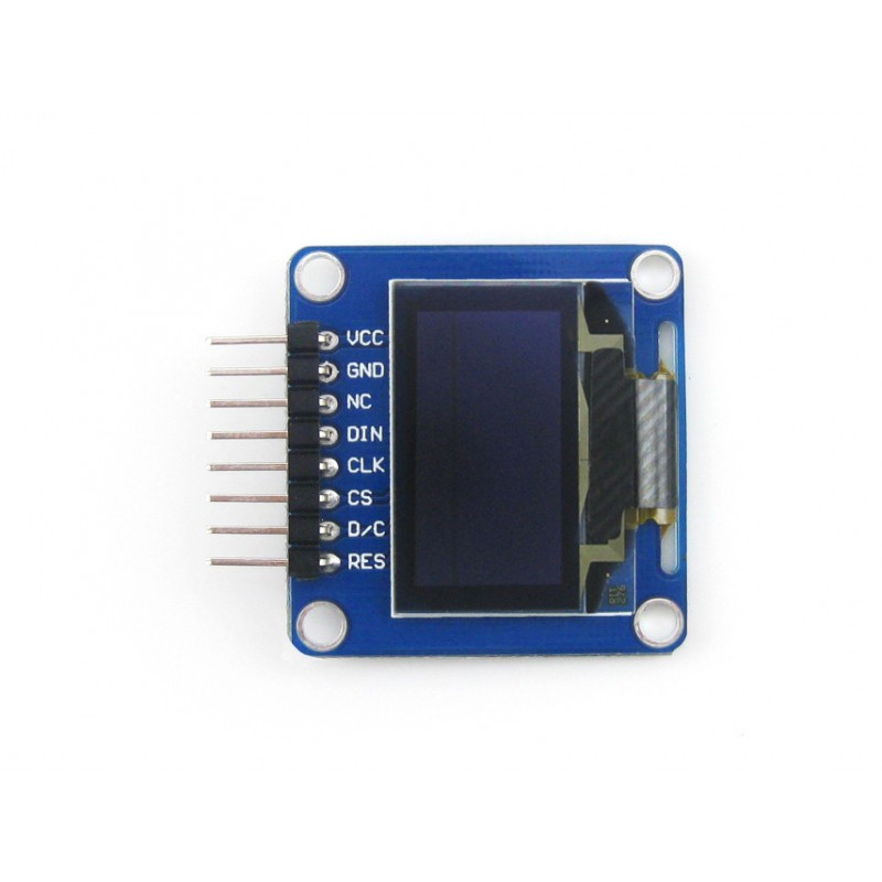 Waveshare 10pcs/lot 0.96inch OLED (A) 128*64 Pixel Angled/horizontal Pinheader SPI / I2C Interfaces Small Size Display