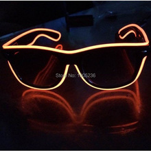 Party LED Light Glass 10 colors Christmas EL Wire Glow Neon Women Men Male Eyewear Costume Bar Eyeswears Glasses Sunglasses