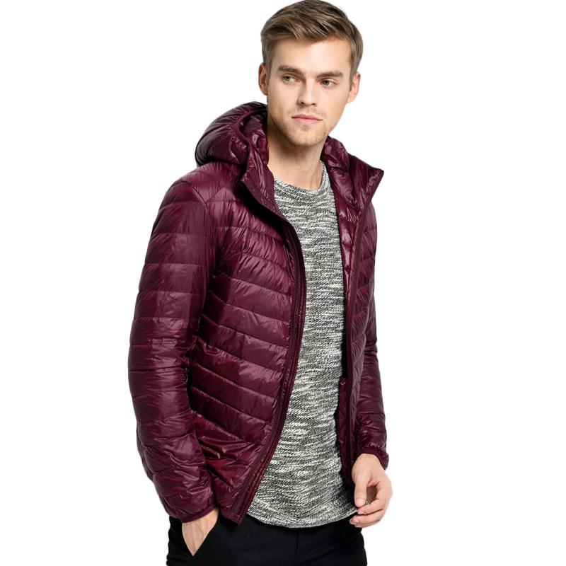 2017 New White Duck Down Jacket Men Autumn Winter Mens Causal Hooded Ultralight Down Jackets And Coats jaqueta masculino Parka