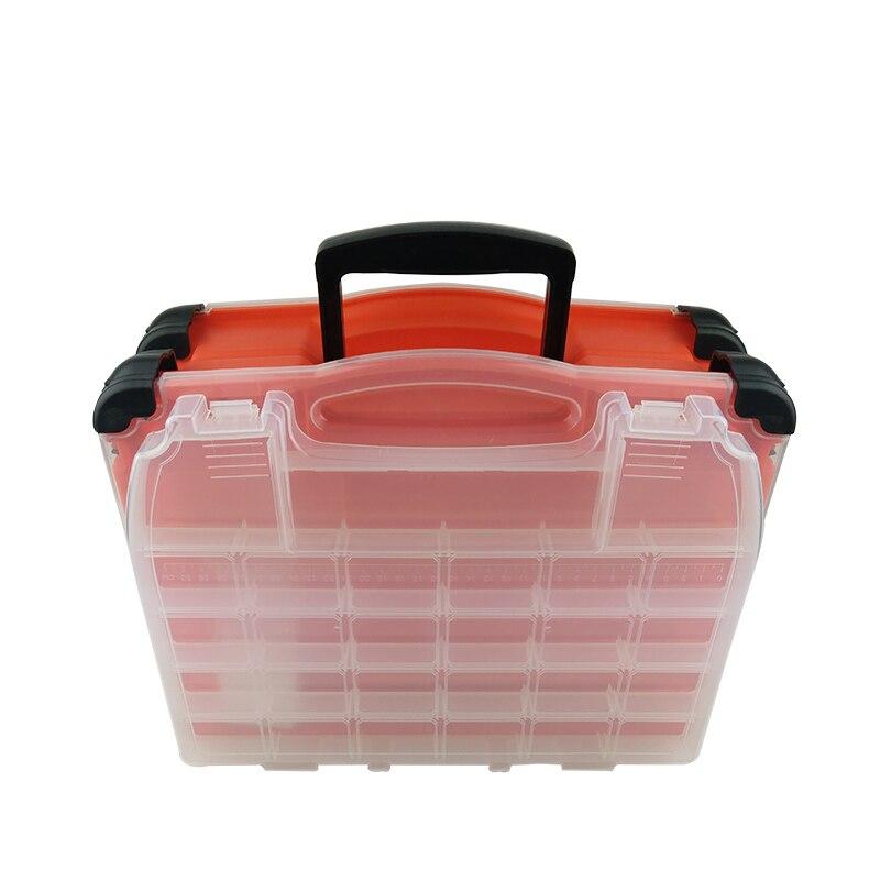 Multifonctionnel haute résistance 38*17*32 cm Transparent Visible en plastique boîte de leurre de pêche boîte de matériel de pêche boîtes 3 couleurs - 3