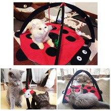 1 pc Pet Cat Play Bed Activity Bells